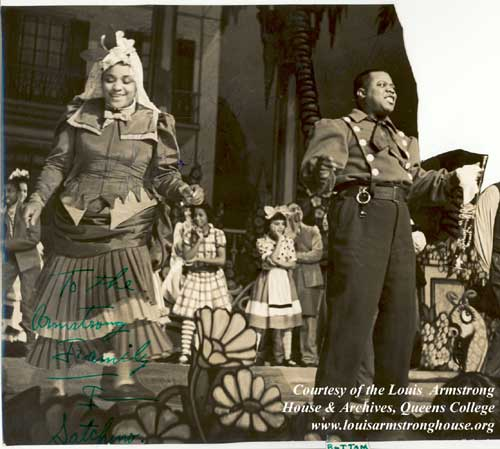 "Louis Armstrong as Bottom in ""Pyramus and Thisbe"""