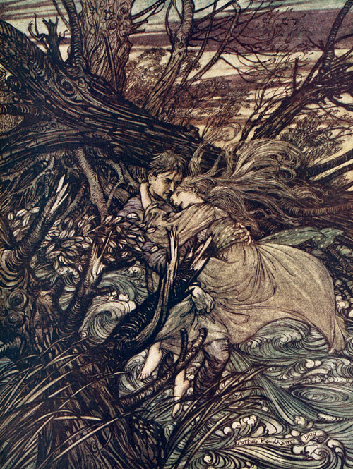 Undine, Illustration by Arthur Rackham