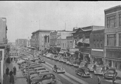 Downtown Aberdeen in the 1940s