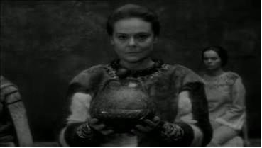 Figure 7: Goneril holding the orb of state