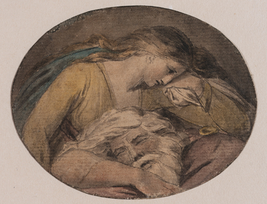 Figure 16. Blake, Cordelia and the Sleeping Lear (ca. 1780) © 2011 Museum of Fine Arts, Boston