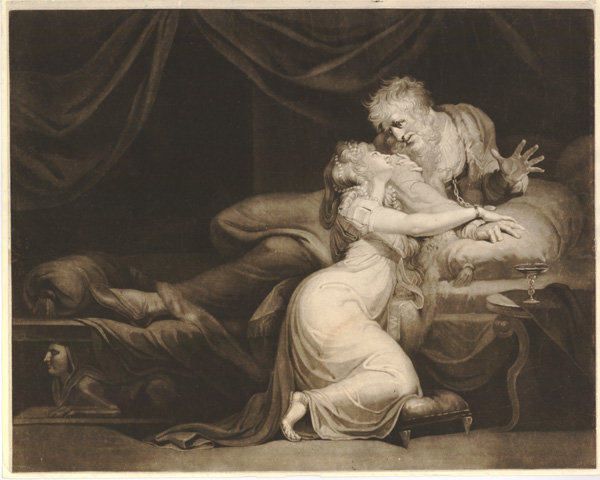 Figure 17. Henry Fuseli, John Raphael Smith, engraver, Lear Awakens to Find Cordelia Beside His Bed (1784)