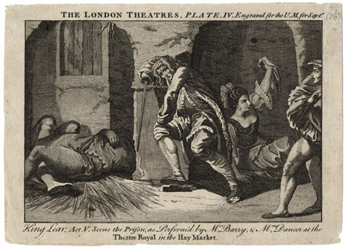 Figure 24. King Lear, Act V. Scene the Prison, as Perform'd by Mr. Barry and Mrs. Dancer (1767)