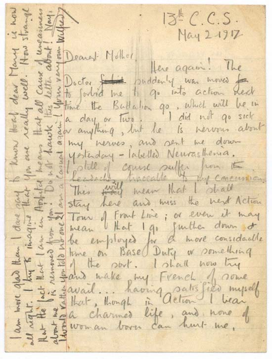 Figure 9. Letter to Susan Owen, 2 May 1917