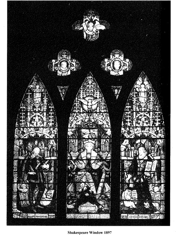Figure 5. Photograph of the 1897 Shakespeare Memorial Window