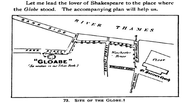 Figure 6. Map of St. Saviour's and the Original Globe Site