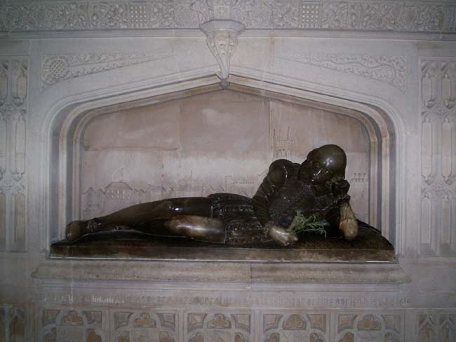 Figure 7. The Shakespeare Effigy in Southwark Cathedral